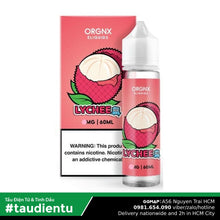 Tinh Du Vape M V Vi The Mát Orgnx Juice Eliquid Iced Lychee Hút Tu Freebase 60Ml 3Mg 0.3%