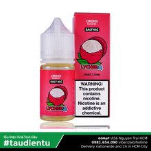 Tinh Du Vape M V Vi The Mát Orgnx Juice Eliquid Iced Lychee Hút Tu Salt Nic 30Ml 35Mg 3.5%