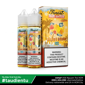 Tinh Du Vape M V Xoài Dâu The Mát Finest Usa Juice Eliquid Ice Mango Berry Hút Tu Freebase 60Ml 3Mg