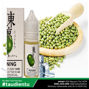 Tinh Du Vape V U Xanh The Mát M Tokyo Usa Juice Eliquid Iced Bean Hút Salt Nic 35 30Ml
