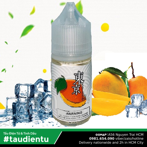 Tinh Du Vape V Xoài The Mát M Tokyo Usa Juice Eliquid Iced Bean Hút Salt Nic 35 30Ml
