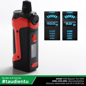 Trn B Tu Vape Geek Vape Aegis Boost Plus Pod System Kit Hút Salt Nic & Freebase Màu Vin Devil Red