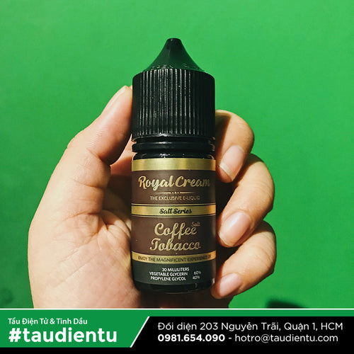 VAPE Tẩu Điện Tử - Royal Cream Coffee Tobacco Salt Nic