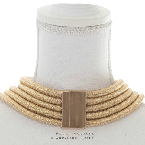 Nubia Gold Choker Necklace - RegentCouture