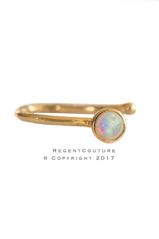 Opal Fake Side Nose Ring - RegentCouture
