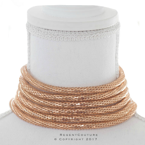 Gold Rope Choker Necklace - RegentCouture