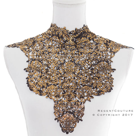 Antique Gold Lace Top Necklace