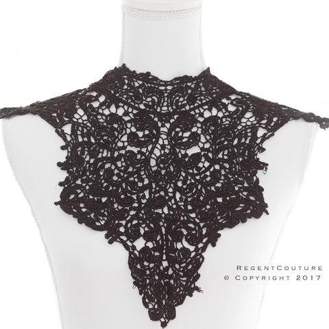 Black Lace Top Necklace