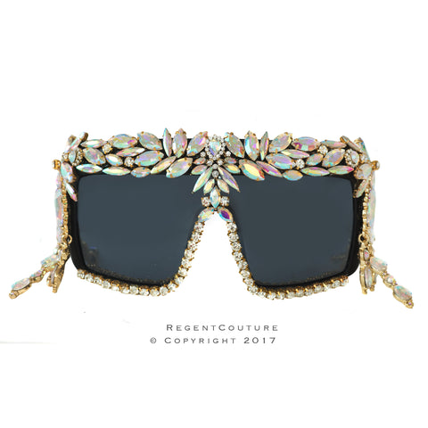 Ultra Large Ab Crystal Sunglasses