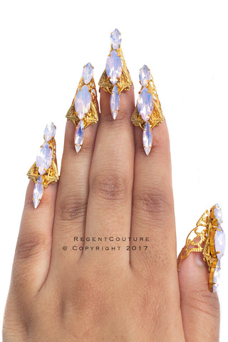 Pink Opal Art Deco Claws