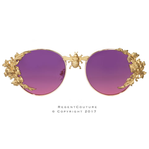 Purple Rose Sunglasses