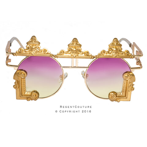 Shah Sunglasses In Pink to Yellow (Discontinued) - RegentCouture