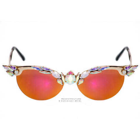 Apricot Tone Cat Eye Sunglasses - RegentCouture