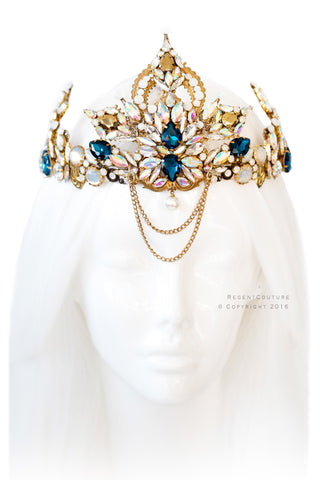 Empress Gold Headpiece - RegentCouture