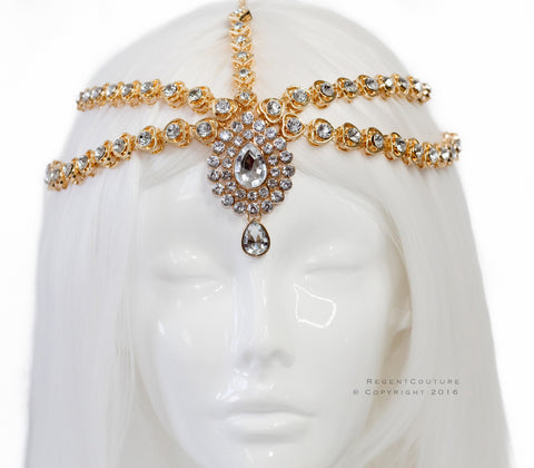 MerNeith Gold Headpiece - RegentCouture