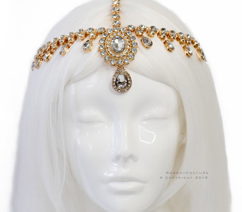 Jasmine Gold Headpiece - RegentCouture