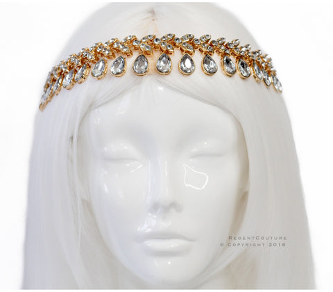 Sultana Gold Headpiece - RegentCouture