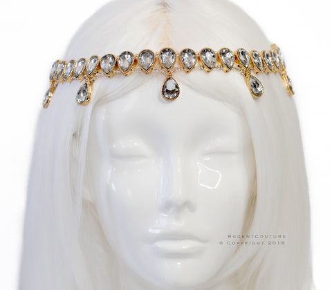 Neha Gold Headpiece - RegentCouture