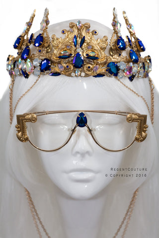 Dynasty Blue Headpiece - RegentCouture