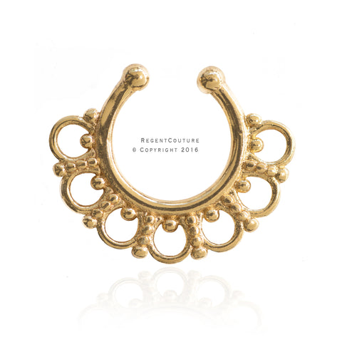 Fatin Fake Septum Nose Ring - RegentCouture