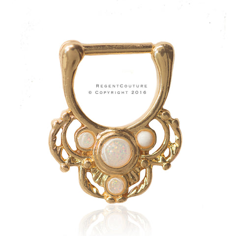 Clicker 16 GA Raheed Septum Nose Ring - RegentCouture