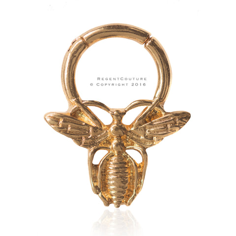 Bee Yonce 14 GA Clicker Septum Nose Ring - RegentCouture