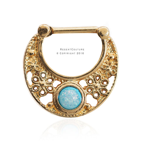 Blue Moon 16 GA Clicker Septum Nose Ring - RegentCouture