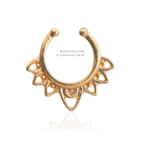 Eshal Fake Septum Nose Ring - RegentCouture