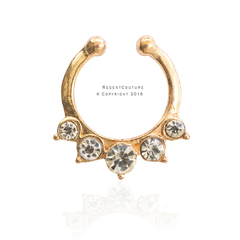 Basma Fake Septum Nose Ring - RegentCouture