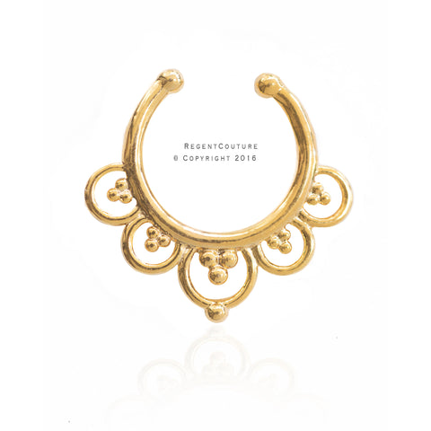 Indira Fake Septum Nose Ring - RegentCouture