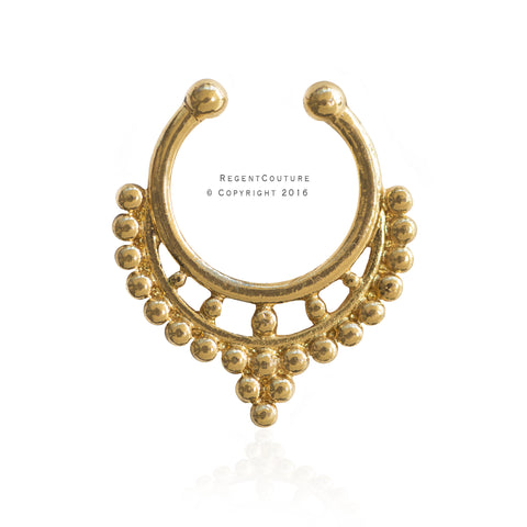 Shams Fake Septum Nose Ring - RegentCouture