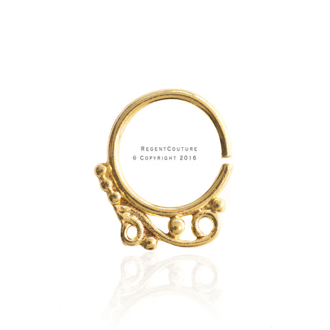 Nasim Clicker 16 GA Septum Nose Ring - RegentCouture