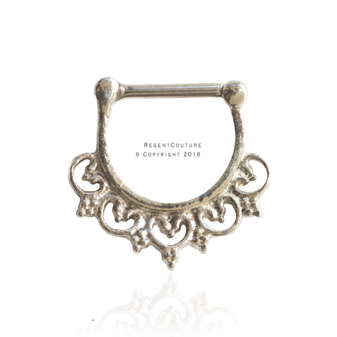 Jumana Clicker 16 GA Septum Nose Ring - RegentCouture