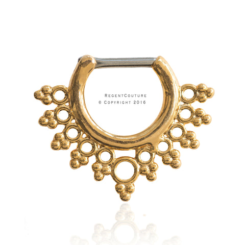 Drops Clicker 16 GA Septum Nose Ring - RegentCouture