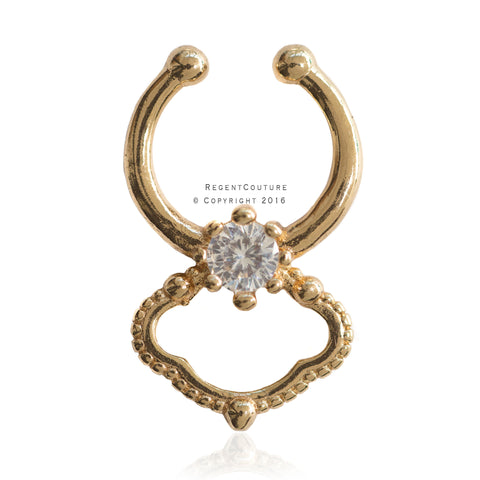 Abal Fake Septum Nose Ring - RegentCouture