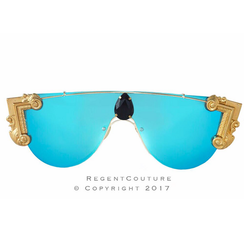 Sonia Blue Chrome Sunglasses