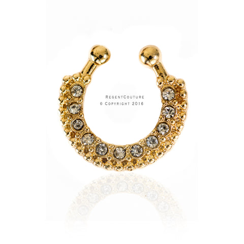 Rumaisa Fake Septum Nose Ring - RegentCouture