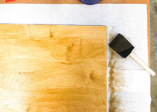 applying water-based stain