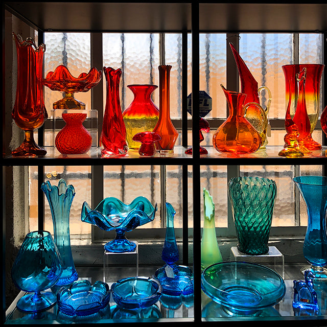 colored glass objects