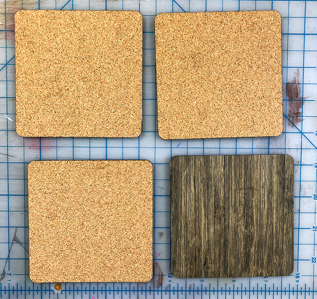 gluing cork backs on coasters