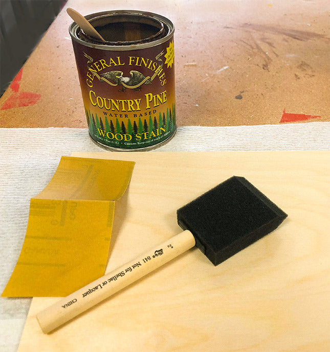 Staining wood with a water-based stain