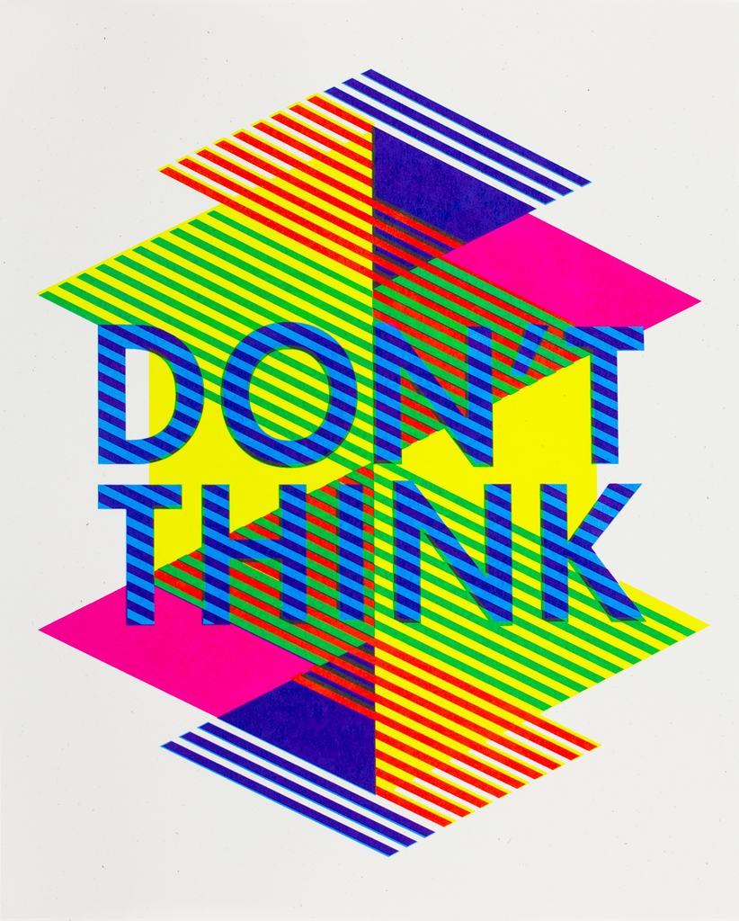 don't think poster