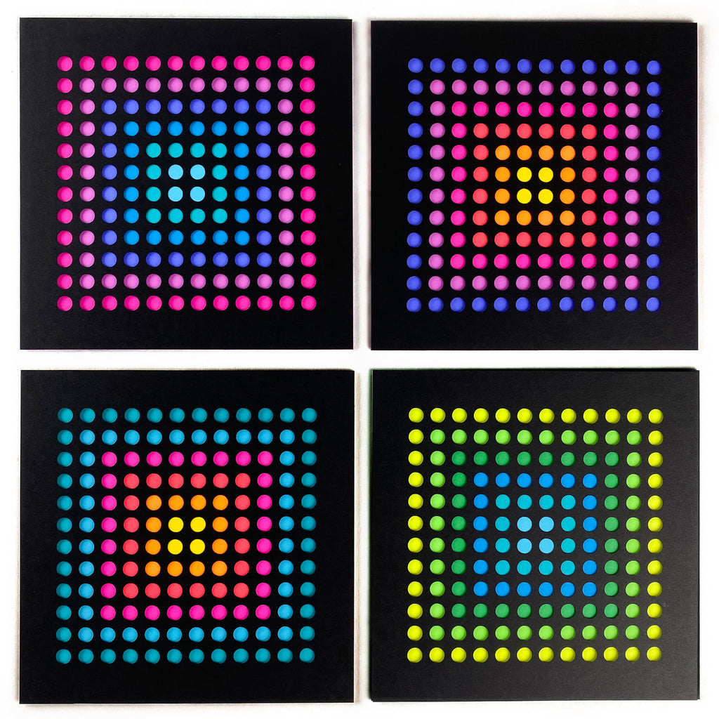 Trippy dots set of four