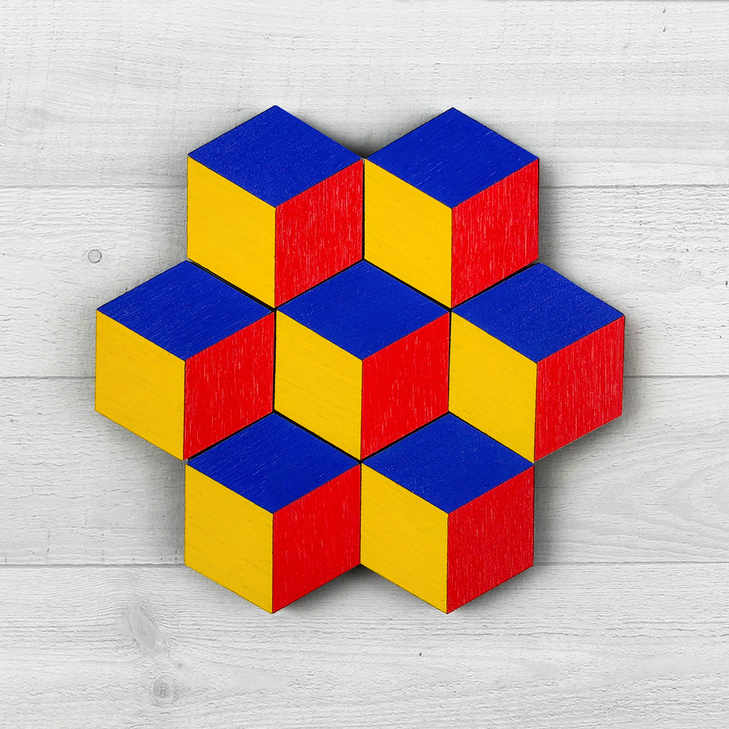 cube magnets blue yellow red