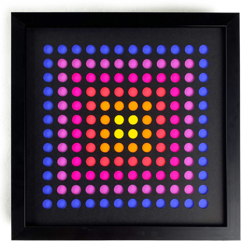 Purple dots framed