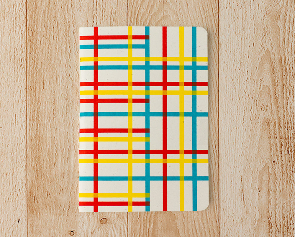 crossy stripes notebook