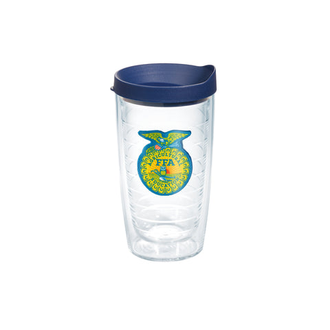 Tervis 16oz Cup with Patch - Blue Lid