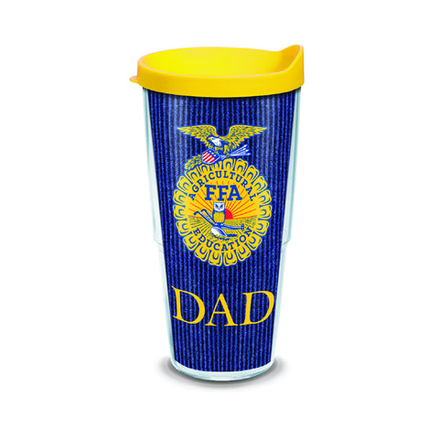 Tervis 24oz Cup with Wrap/Dad - Yellow Lid