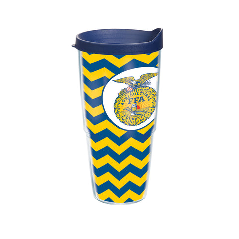 Tervis 24oz Cup with Wrap/Chevron - Blue Lid