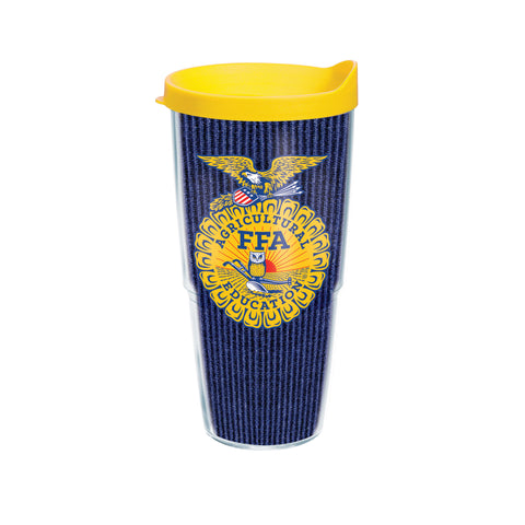 Tervis 24oz Cup with Wrap/Corduroy - Yellow Lid